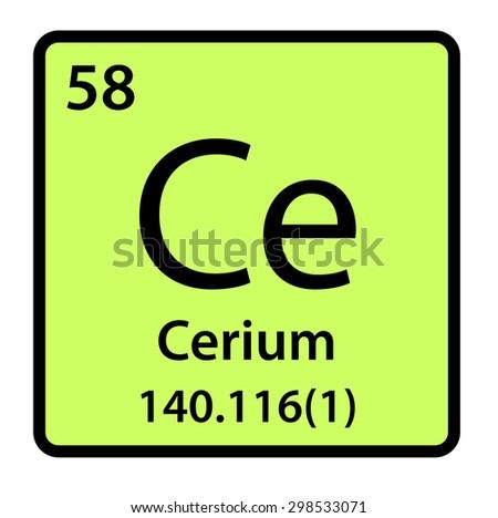 Element cerium periodic table stock illustration 298533071 element cerium of the periodic table urtaz Images