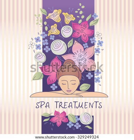 Element Design Logo Beauty Salon Cosmetic Stock Illustration