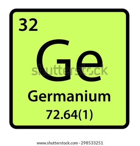 Element Germanium Periodic Table Stock Illustration 298533251
