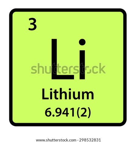 Element  Lithium of the Periodic Table - stock photo