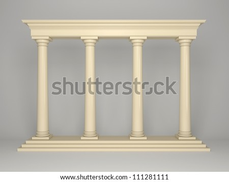 Element of classical architecture portal with columns - stock photo