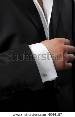 Element of modern man's suit - stock photo
