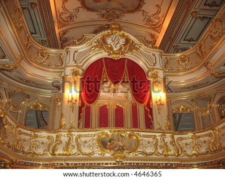 Element of the theater in the palace (Saint-Petersburg) - stock photo