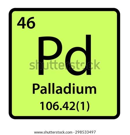element palladium periodic table stock illustration 298533497 rh shutterstock com periodic table clip art free periodic table elements clipart