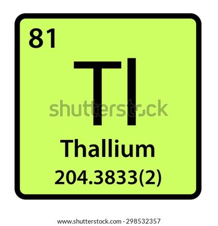 Element thallium periodic table stock illustration 298532357 element thallium of the periodic table urtaz Choice Image