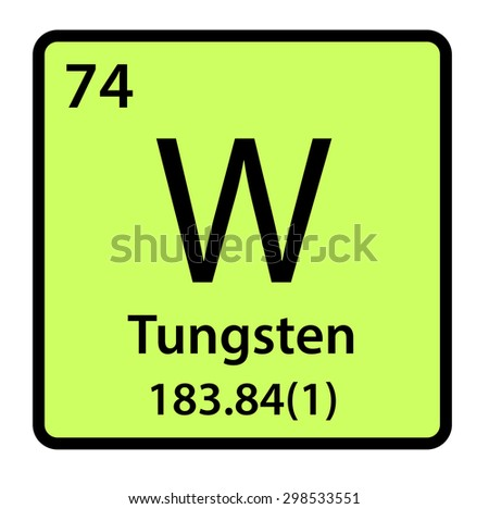 Element tungsten periodic table stock illustration 298533551 element tungsten of the periodic table urtaz Choice Image