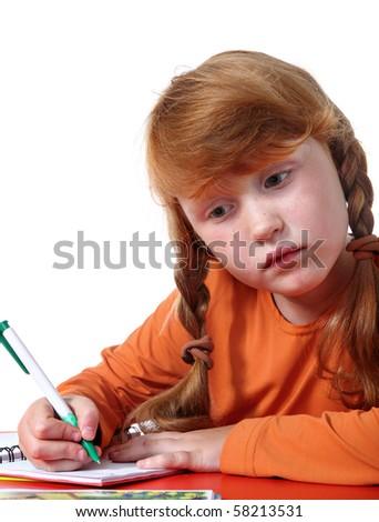 Elementary school girl - stock photo