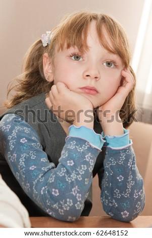 Elementary school. Schoolgirl in the classroom - stock photo