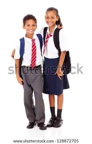 elementary school students - stock photo