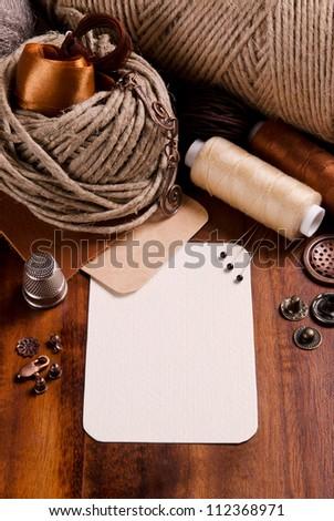elements for handmade - stock photo