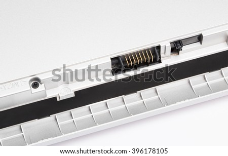 Elements of the modern notebook, makro foto - stock photo