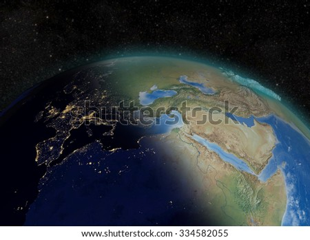 Elements of this image furnished by NASA - stock photo
