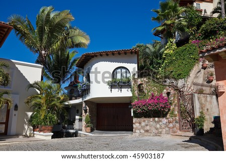 Elements Of Traditional And Modern Mexican Architecture Puerto Vallarta Mexico