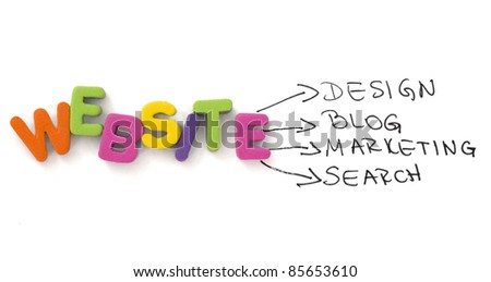 elements of website - stock photo