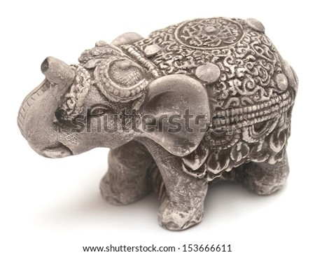 Elephant figurine isolated on white background