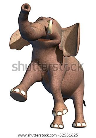 elephant happy - stock photo