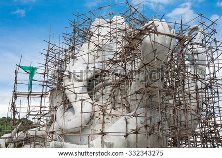 elephant-headed deity D - stock photo