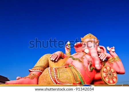 Elephant-headed god Chachoengsao, Thailand - stock photo