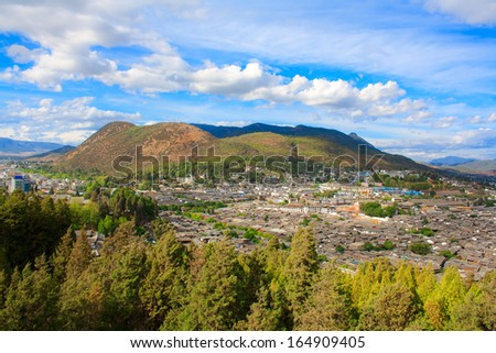 Elephant Hill in Lijiang. Yunnan. China. - stock photo