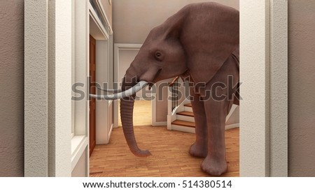 Elephant In The Living Room 3d Rendering Part 67