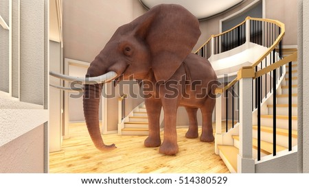 Elephant In The Living Room 3d Rendering Part 94