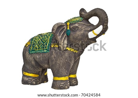 Elephant made from plaster Skilled natives in Thailand that background information. - stock photo