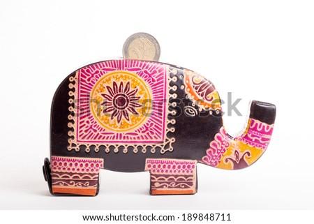 elephant piggy bank - stock photo