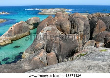 Elephant Rocks, William Bay, Western Australia - stock photo