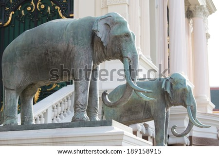 elephant sculpture in Grand Palace, Bangkok, Thailand
