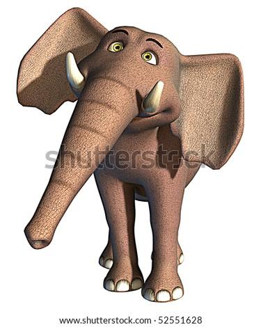 elephant smile - stock photo