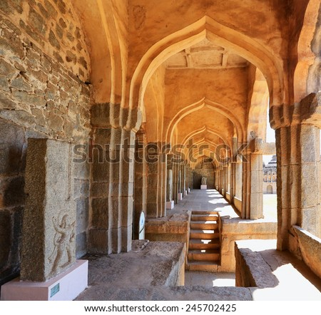Elephant stables, Hampi, Karnataka, India (UNESCO World Heritage Site, listed as the Group of Monuments at Hampi) India