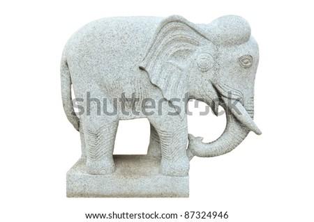 elephant stone statue - stock photo