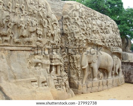 elephant temple in India - stock photo