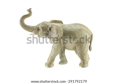 Elephant toy isolated on white background