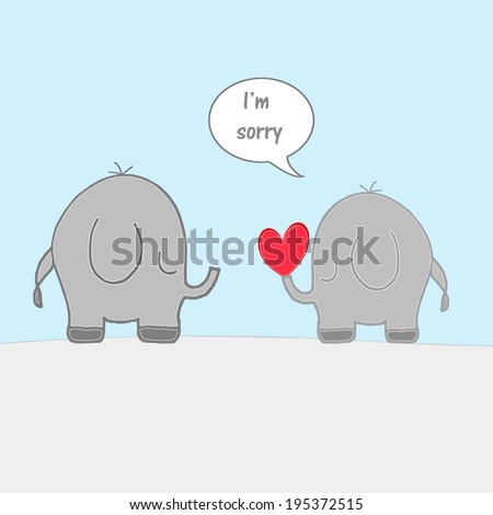 Elephants - I'm Sorry - stock photo