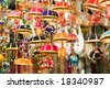 Elephants under Parasol - stock photo