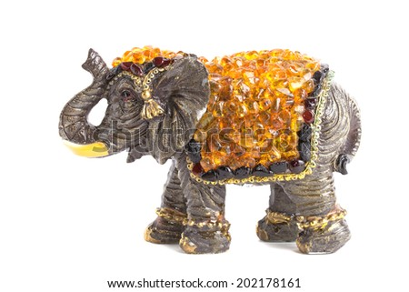 elephants with amber for happiness - stock photo