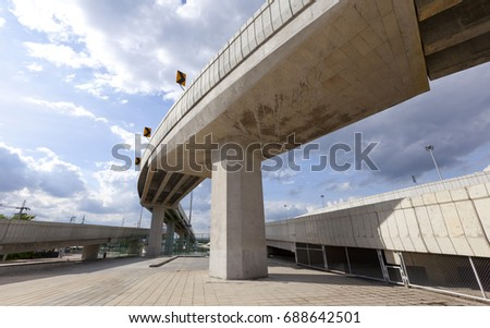 elevated express way and blue sky
