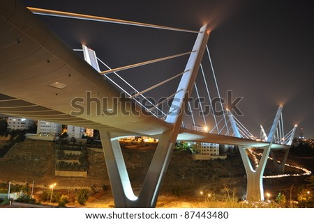 Elevated express way in Amman,Jordan - stock photo