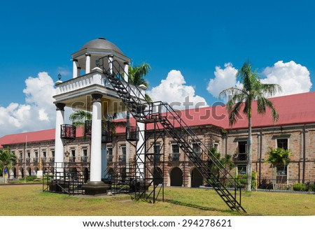 elevated pavilion in front of the Naga metropolitan cathedral in Naga City, Philippines - stock photo