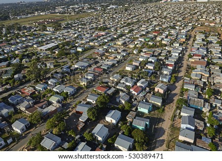 Elevated view of Walmer Township in Port Elizabeth, home of the indigenous Xhosa Community