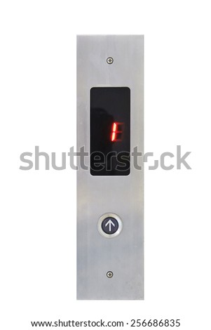 Elevator Button up direction and digital number one - stock photo