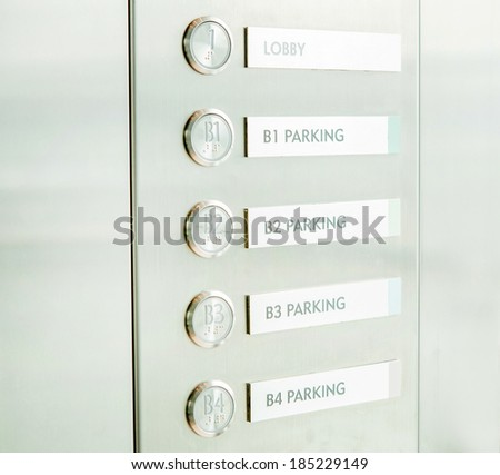 Elevator buttons - stock photo