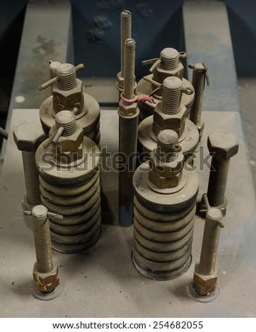 Elevator springs. - stock photo