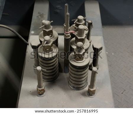 Elevator springs. - stock photo