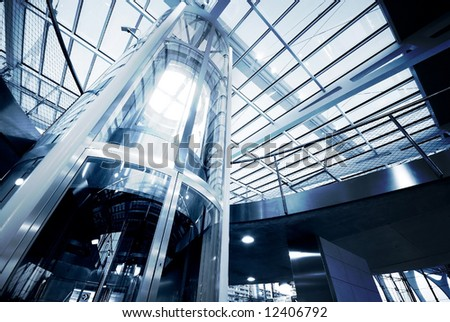Elevator to success - stock photo
