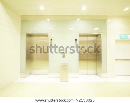 Elevator waiting room
