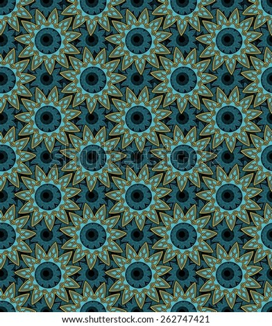 Eleven pointed mandala abstract pattern - stock photo