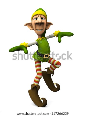 elf dance - stock photo