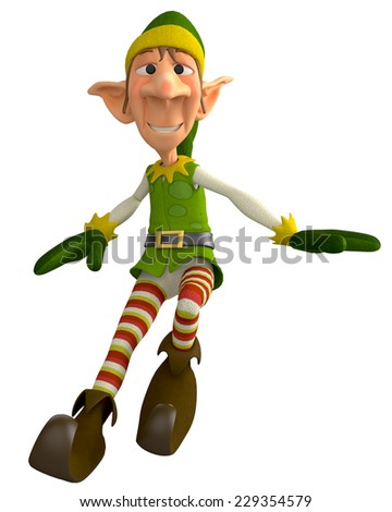 elf the santa helper  - stock photo